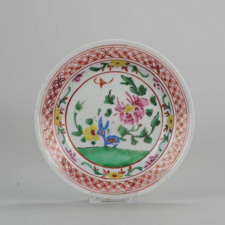 Set of 9 Chinese Porcelain Plates, SE Asian Market Straits Bencharong For Sale 2