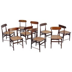 "Set of 9 ""Lucio Costa"" Chairs by Sergio Rodrigues, circa 1956"