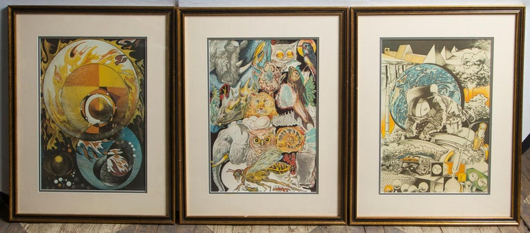 Set of 9 Science Fiction Prints In Good Condition For Sale In Woodbury, CT