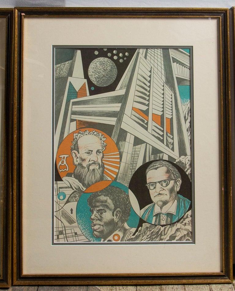 Paper Set of 9 Science Fiction Prints For Sale