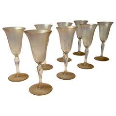 Set of 9 Steuben Cordial Glasses