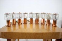 Set of 9 Table Lamps by Kamenicky Senov, Preciosa, 1970s