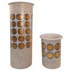 Set of Aldo Londi Ceramic Pottery Vase by Bitossi