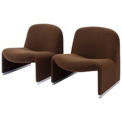 Set of Alky Chairs Designed by Giancarlo Piretti for Castelli, Italy