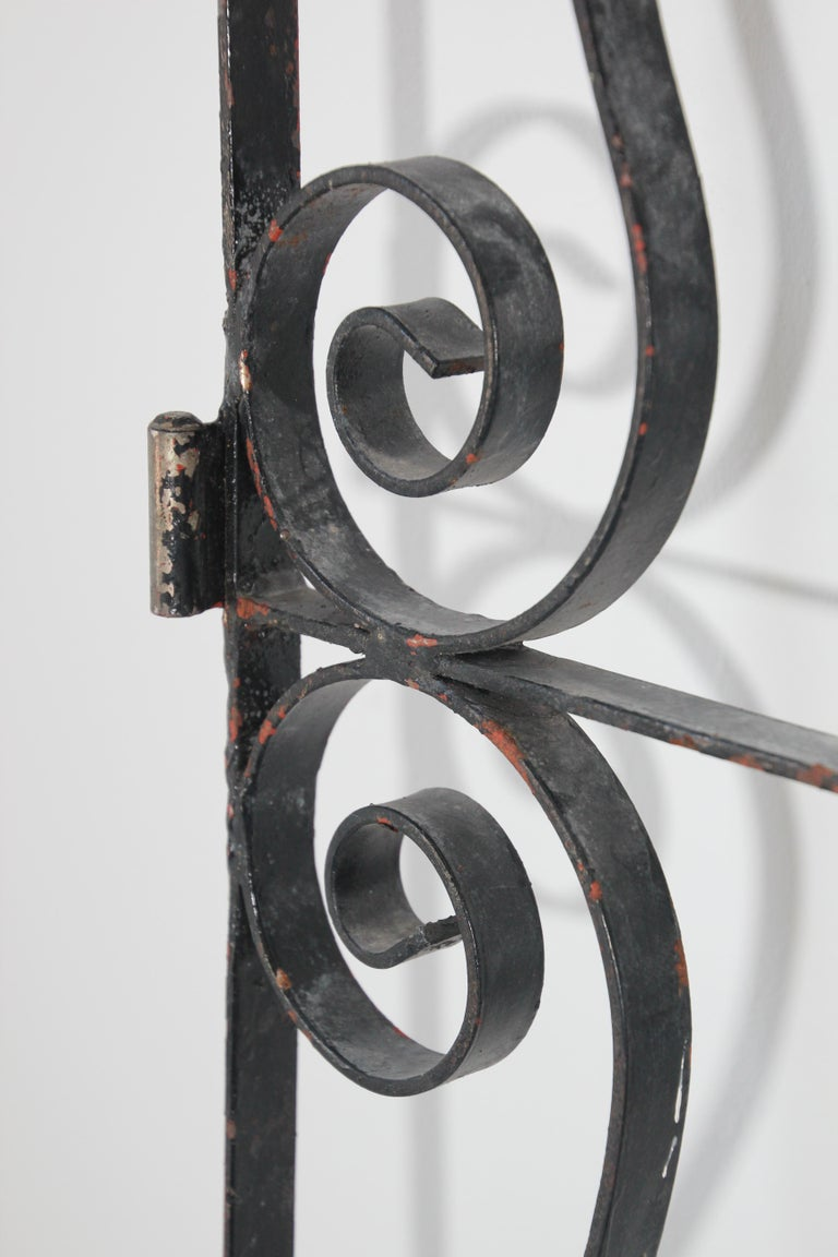 Set of Antique French Wrought Iron Garden Doors For Sale 13