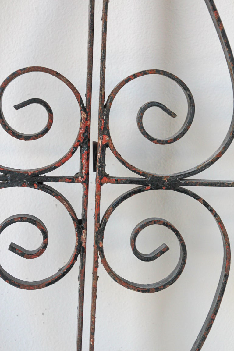 Set of Antique French Wrought Iron Garden Doors For Sale 1
