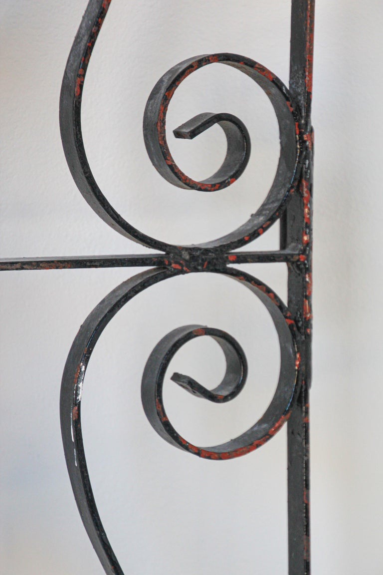 Set of Antique French Wrought Iron Garden Doors For Sale 2