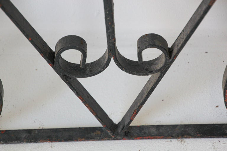 Set of Antique French Wrought Iron Garden Doors For Sale 3