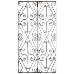 Set of Antique French Wrought Iron Garden Doors
