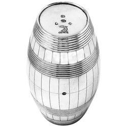 Set of Antique Georgian Silver Coopers Barrel Beakers / Cups, 1783