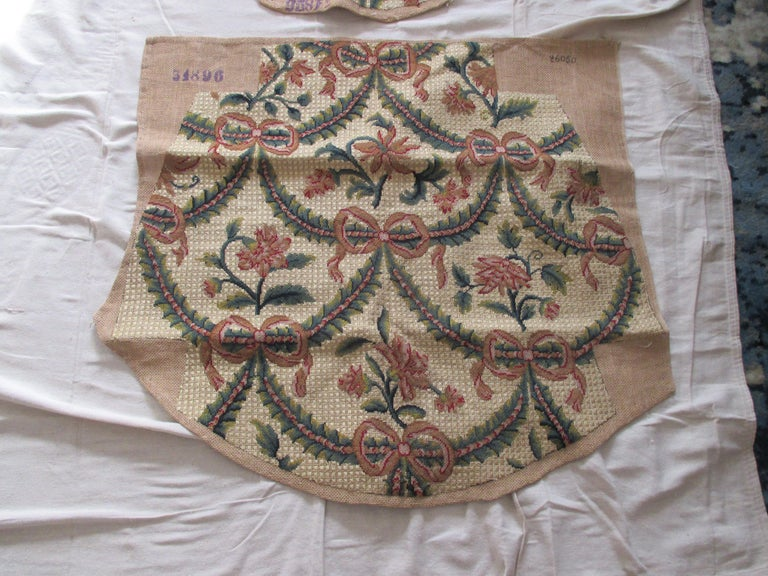 Antique chair tapestry set