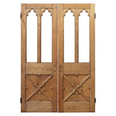 Set of Antique Oak Church Doors