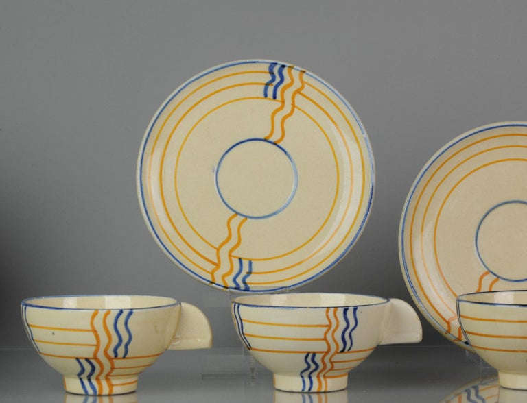 Set of Antique / Vintage Art Deco Ceramic Tea Cup Vases, 1920-1930, Schramberg In Good Condition For Sale In Amsterdam, Noord Holland