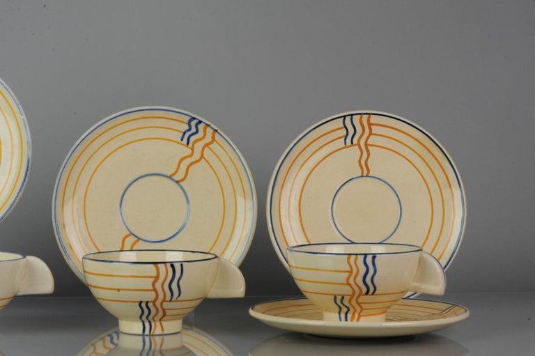 Earthenware Set of Antique / Vintage Art Deco Ceramic Tea Cup Vases, 1920-1930, Schramberg For Sale