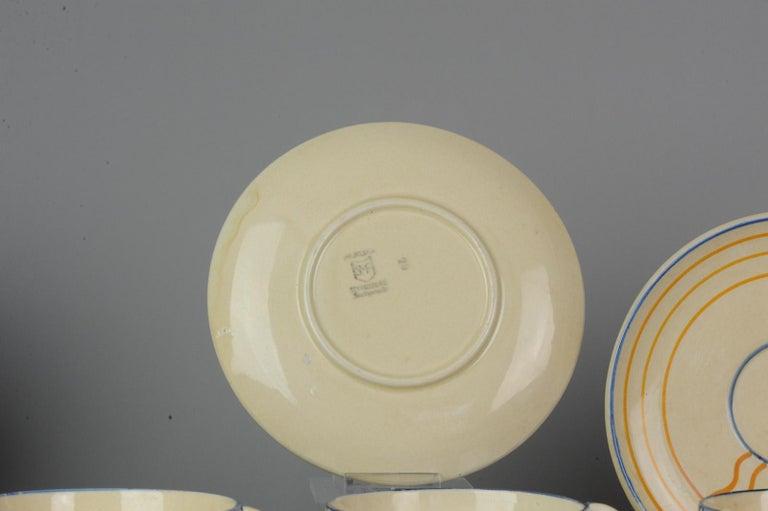Set of Antique / Vintage Art Deco Ceramic Tea Cup Vases, 1920-1930, Schramberg For Sale 1