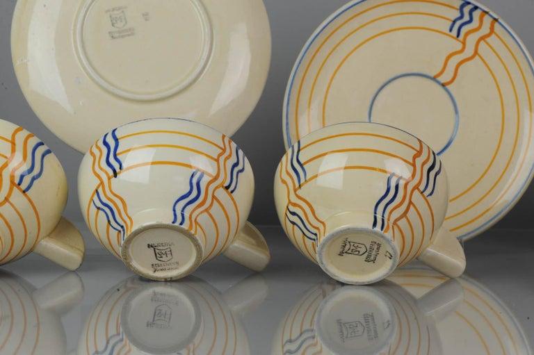 Set of Antique / Vintage Art Deco Ceramic Tea Cup Vases, 1920-1930, Schramberg For Sale 2