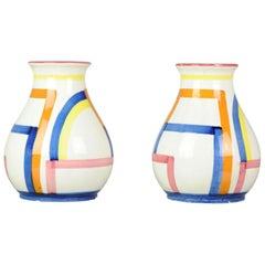 Set of Antique / Vintage Art Deco Ceramic Tea Cup Vases, 1920-1930, Schramberg
