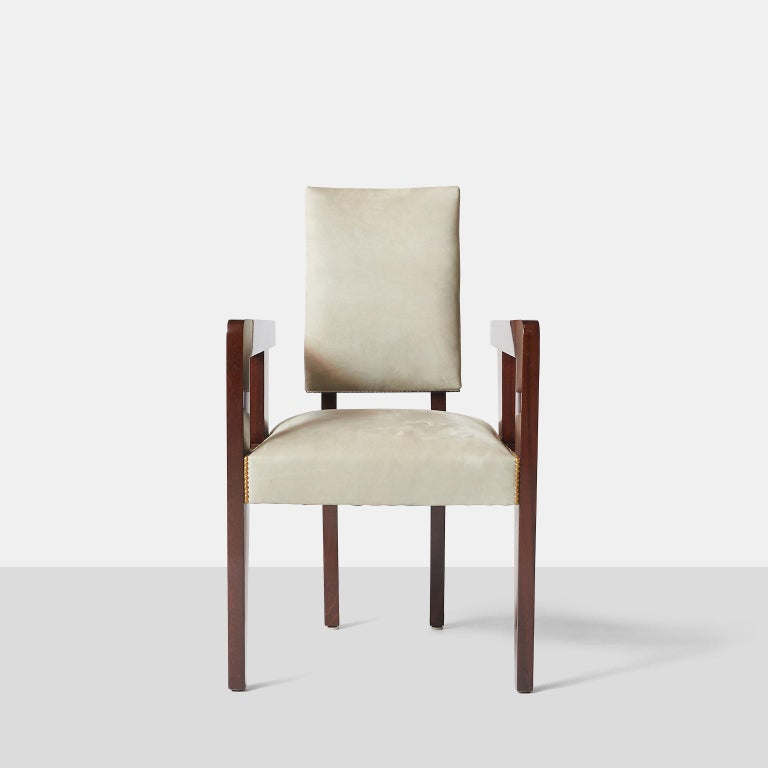 French Set of Armchairs by Andre Sornay For Sale