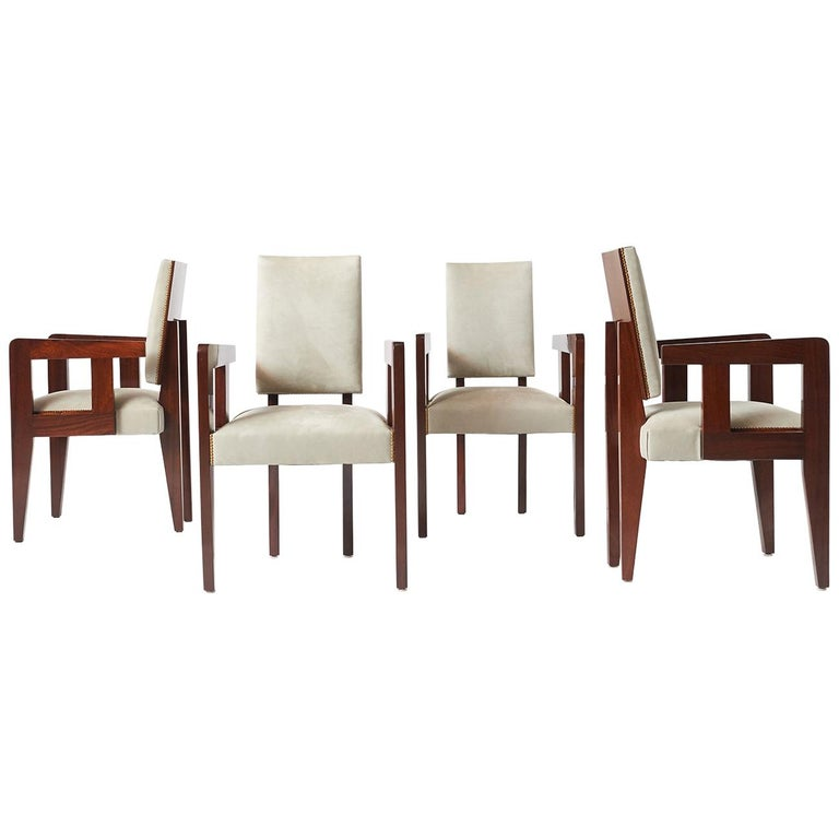 Set of Armchairs by Andre Sornay For Sale