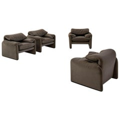 Set of Armchairs by Vico Magistretti