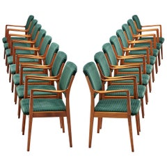 Set of Armchairs in Teak and Upholstery