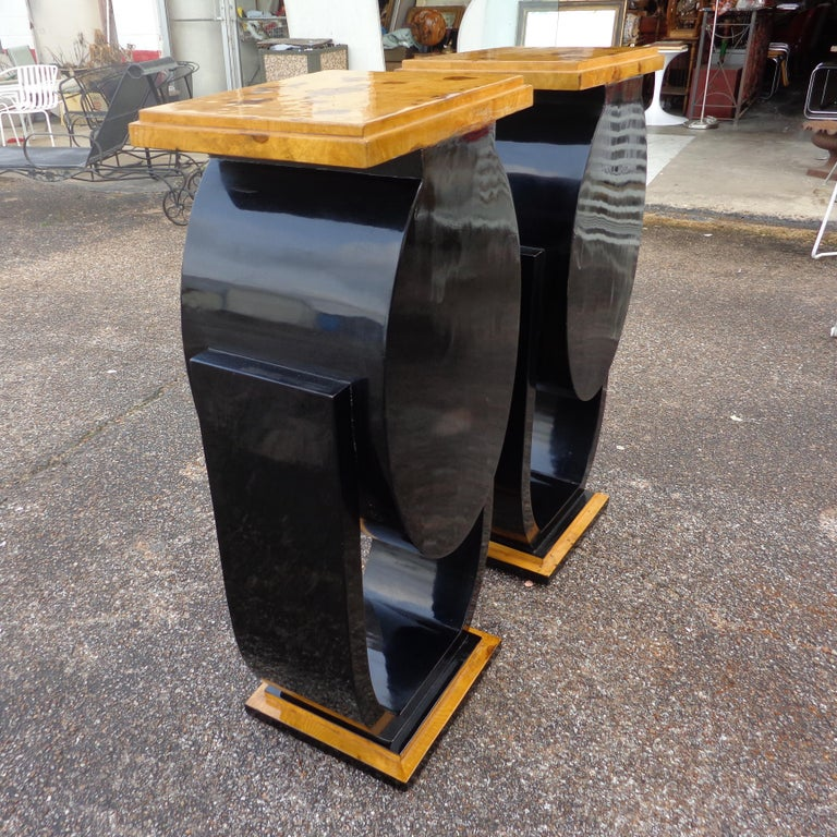Set of Art Deco Style Nightstands Side Tables In Good Condition For Sale In Pasadena, TX