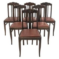 Set of Art Nouveau Chairs, Poland, circa 1910, Antique