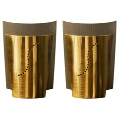 Set of Atelje Lyktan Brushed Brass S Wall Sconces
