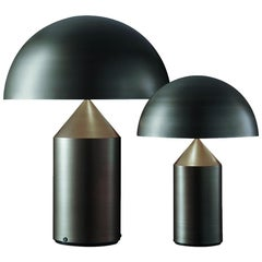 Set of 'Atollo' Large and Medium Bronze Table Lamp Designed by Vico Magistretti