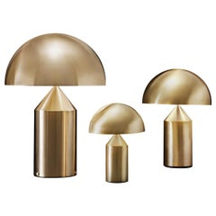 Set of 'Atollo' Large, Medium and Small Gold Table Lamp Designed by Magistretti