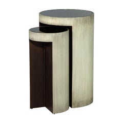 Set of Baker Maguire Moon Modern Accent Tables