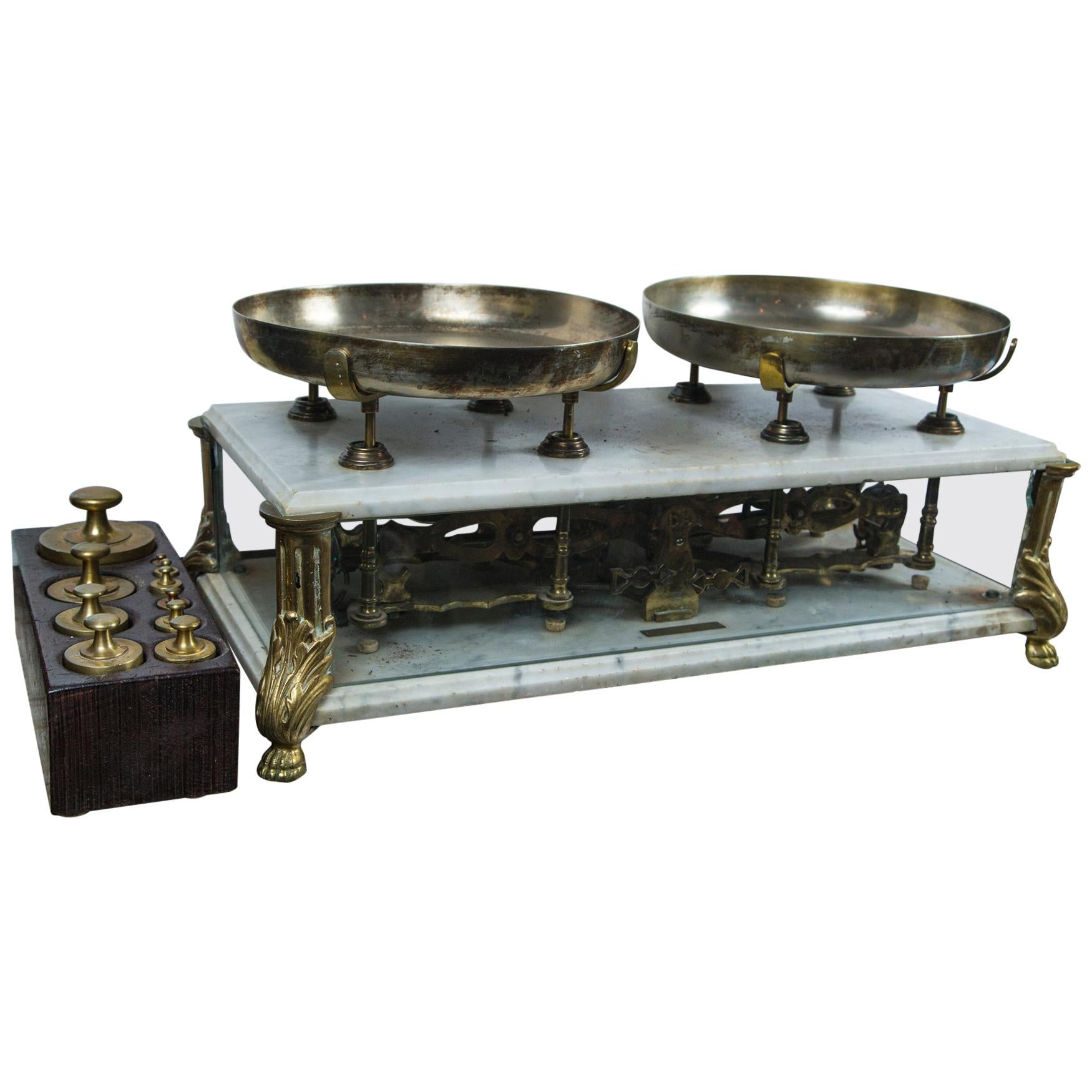 Set of Balance Scales with Original Weights