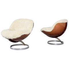 Set of Beautiful 'Sphere' Lounge Chairs by Boris Tabacoff for MMM, France, 1971