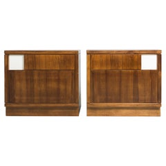 Set of Bed Side Tables, Walnut, Ico Parisi, 1960