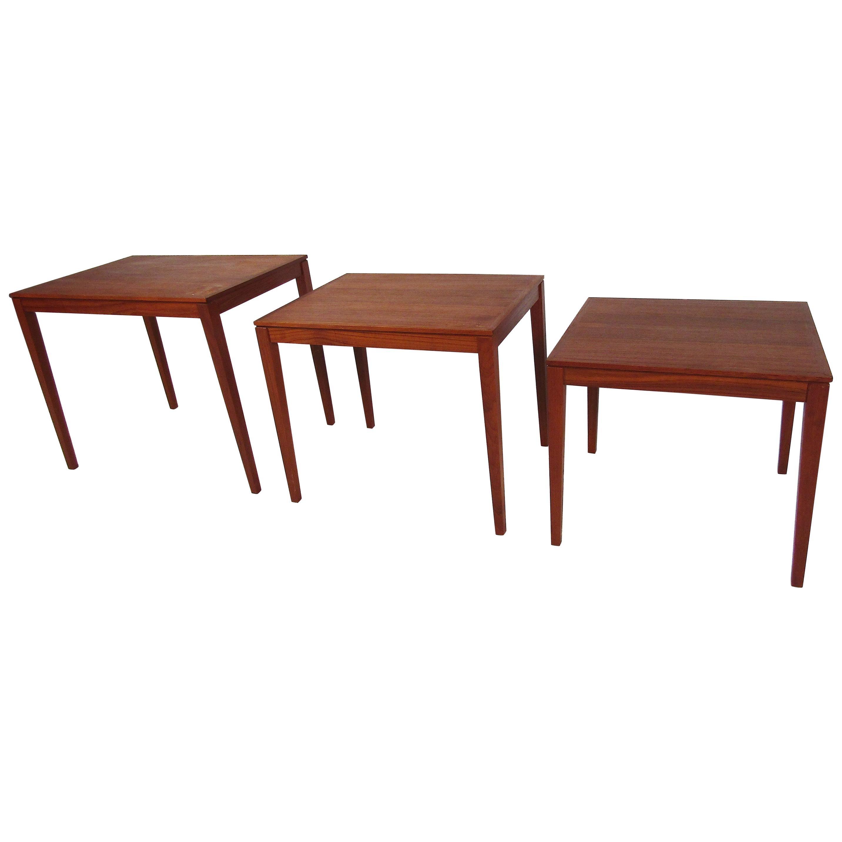 Set of Bent Silberg Danish Nesting Tables