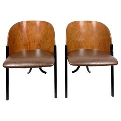 Set of Bent Wood Design Chairs, 1970s