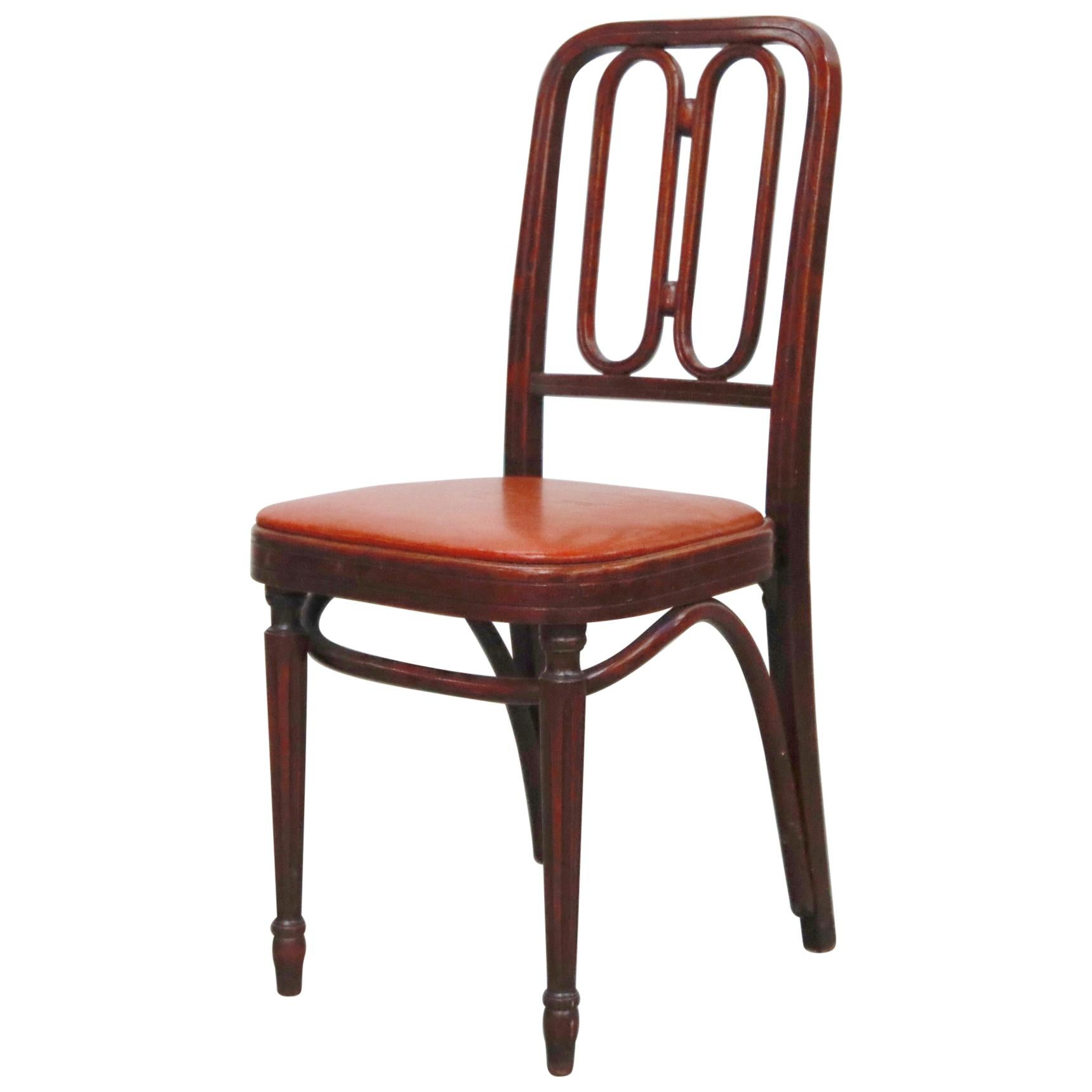 Bentwood Dining Chair by Josef Hoffmann for Thonet, circa 1920s, Signed