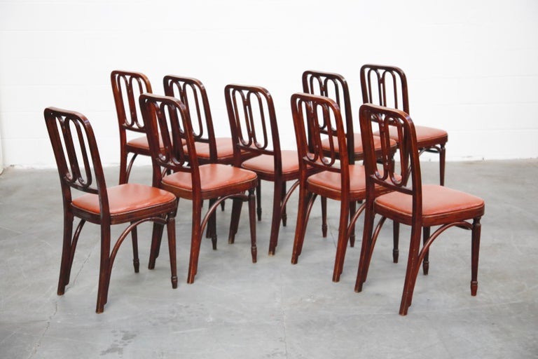 Set of Bentwood Dining Chairs by Josef Hoffmann for Thonet, circa 1920s, Signed For Sale 4