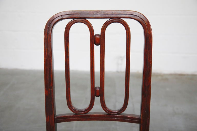 Set of Bentwood Dining Chairs by Josef Hoffmann for Thonet, circa 1920s, Signed For Sale 5