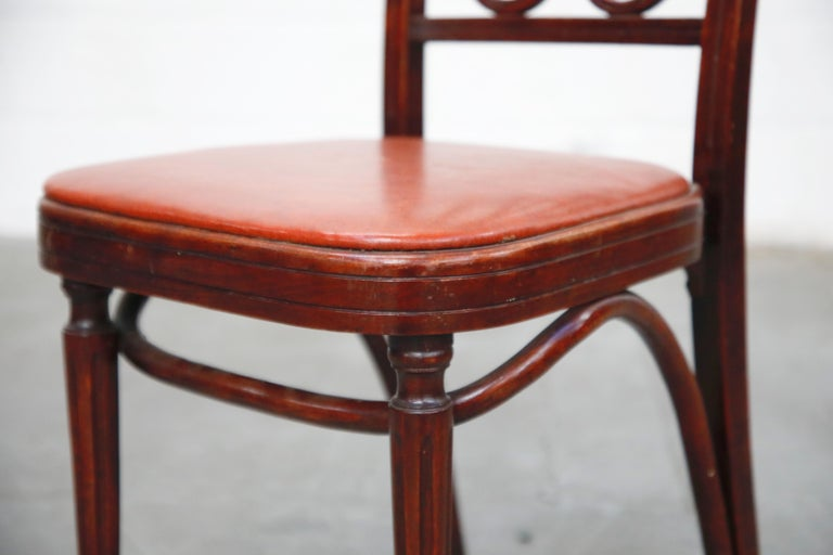 Set of Bentwood Dining Chairs by Josef Hoffmann for Thonet, circa 1920s, Signed For Sale 8