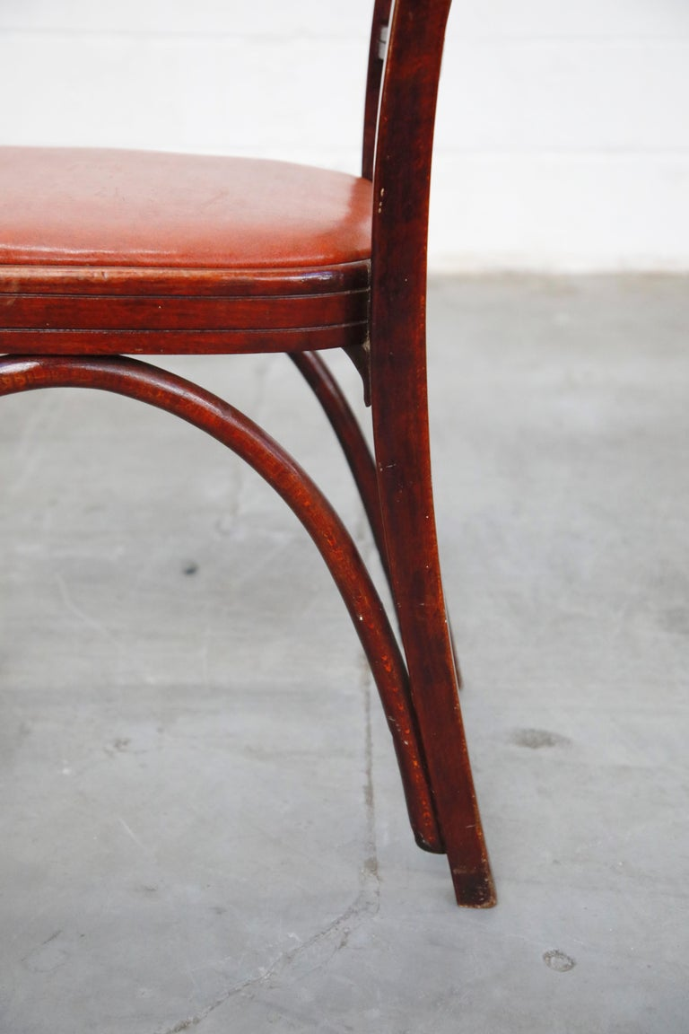 Set of Bentwood Dining Chairs by Josef Hoffmann for Thonet, circa 1920s, Signed For Sale 9