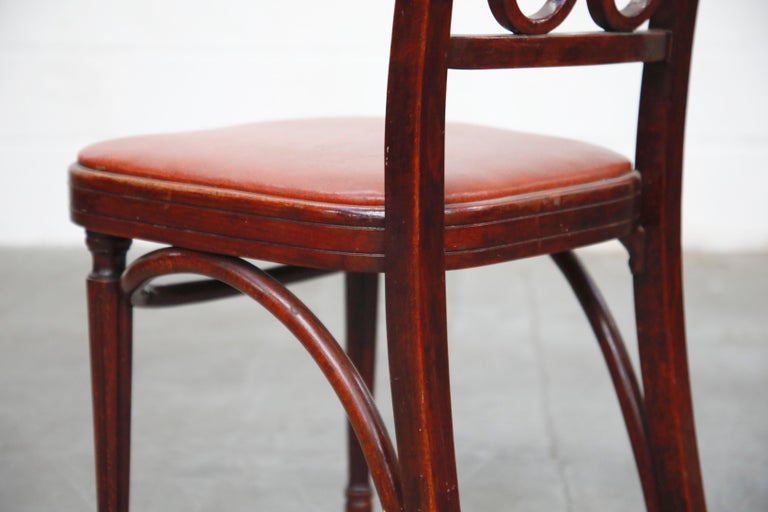 Set of Bentwood Dining Chairs by Josef Hoffmann for Thonet, circa 1920s, Signed For Sale 11