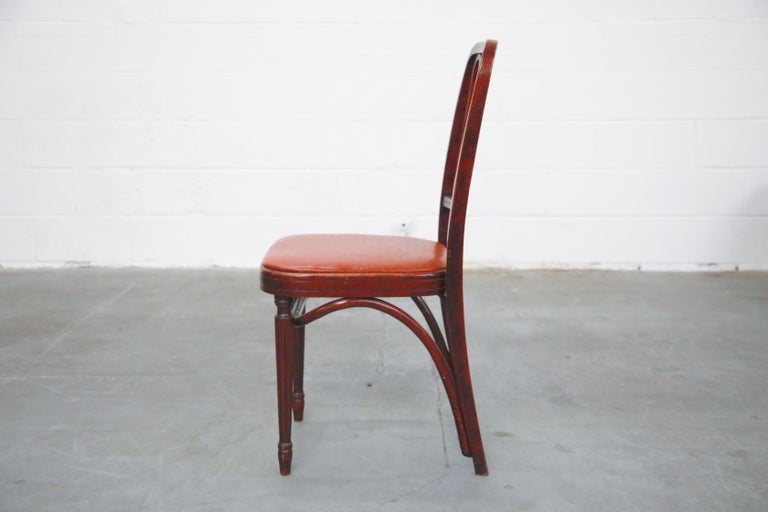 Set of Bentwood Dining Chairs by Josef Hoffmann for Thonet, circa 1920s, Signed In Good Condition For Sale In Los Angeles, CA