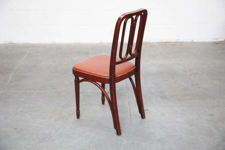 Early 20th Century Set of Bentwood Dining Chairs by Josef Hoffmann for Thonet, circa 1920s, Signed For Sale