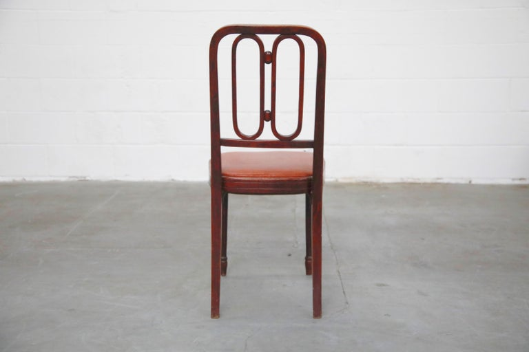 Set of Bentwood Dining Chairs by Josef Hoffmann for Thonet, circa 1920s, Signed For Sale 1