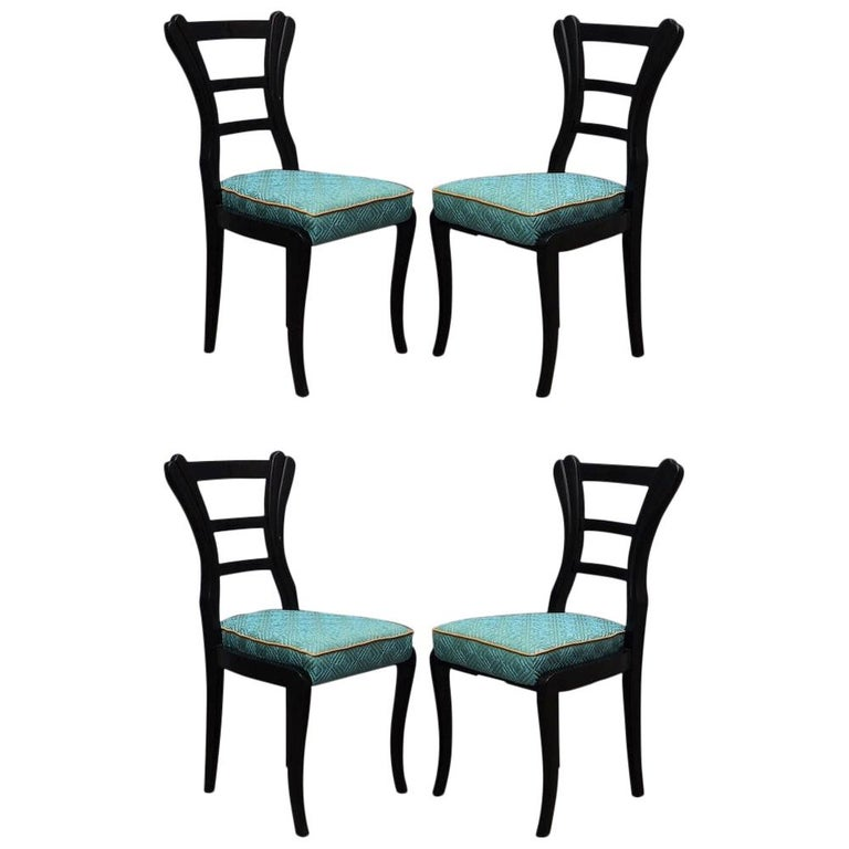 Set of Biedermeier Chairs, 1820 For Sale