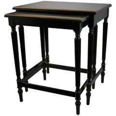 Set of Black Nesting Tables by Imperial Furniture