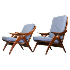 Set of Blue/Grey Armchairs from De Ster Gelderland, 1960s