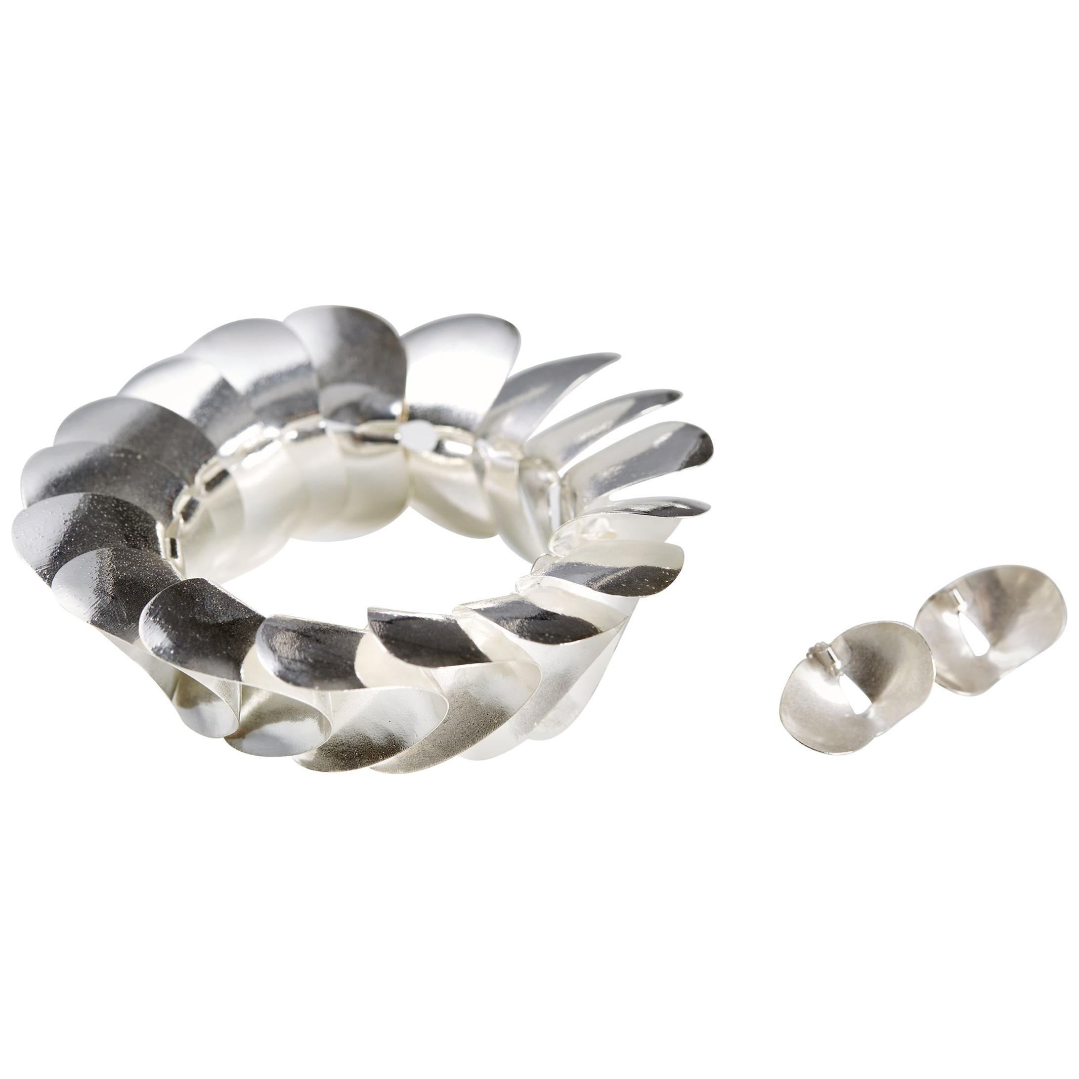Set of Bracelet and Earrings Designed by Inni Pärnänen, Sweden, 2000s