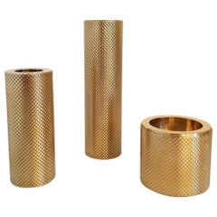 Set of Brass Candleholders by Le Lampade